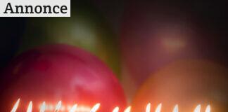 Tændte fødselsdagslys